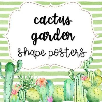 Cactus Garden Shape Posters