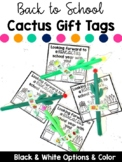 Cactus Gift Tags for Back to School or Valentine's Day