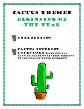 Cactus Goal Setting and Interest Inventory