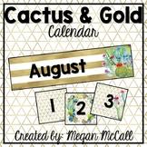 Cactus & Gold: Editable Calendar Cards