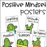 Cactus Positive Mindset Posters