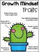 Cactus Growth Mindset Traits Poster