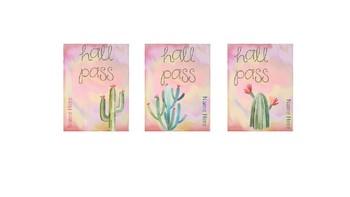Cactus Hall Pass Lanyards - Editable