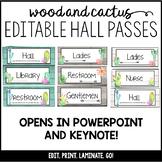 Editable Hall Passes Cactus Theme