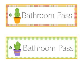 Cactus Theme Decor | Cactus Themed Classroom | Hall Passes
