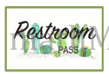 Cactus Lanyard Hall Passes
