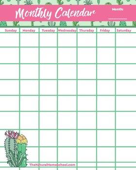 Cactus Homeschool Planner