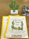 Cactus Homework Folder Cover