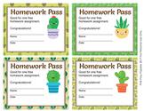 Cactus Homework Passes