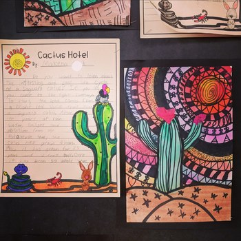 Cactus Hotel - Reading, Writing, Science and Art Activities