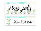 Job Chart - Cactus Themed
