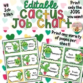 Cactus Job Chart EDITABLE & CUSTOMIZABLE