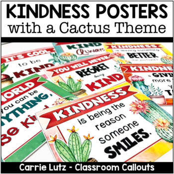 Kindness Posters Cactus Theme