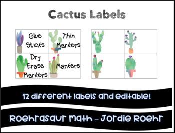 Cactus Labels