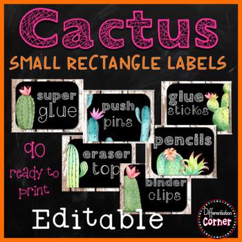 Cactus Labels Editable