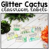 Cactus Classroom Decor Labels Editable