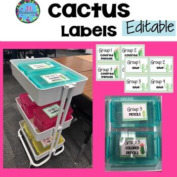 Cactus Labels Editable - Cactus Classrroom Decor