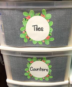 Cactus Labels Editable - Cactus Math Labels - Cactus Classroom Decor
