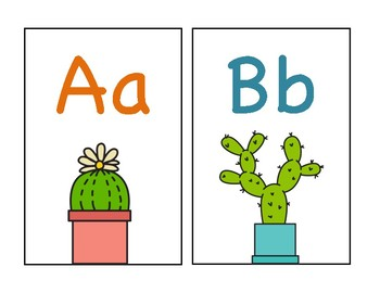 Cactus Letter Cards