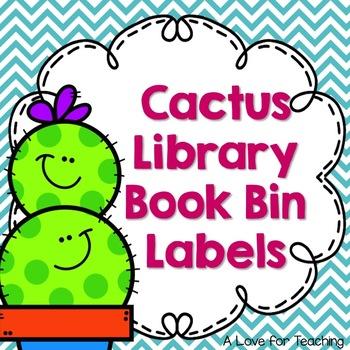 Cactus Library Book Bin Labels {Editable}