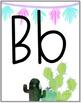 Cactus Llama Alphabet Decor