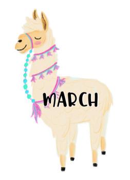 Cactus Llama Birthday Labels