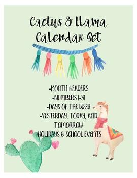 Cactus & Llama Calendar Set