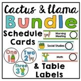 Cactus & Llama Labels & Schedule Cards Bundle