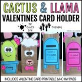 Cactus Valentines & Llama Valentines Day Bag Holder