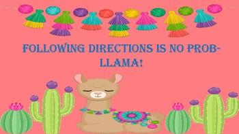 Cactus, Llama, and Flower Classroom Decorations