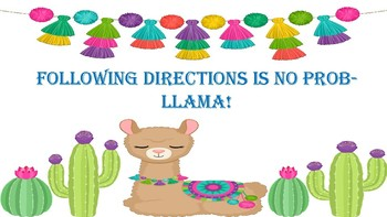 Cactus, Llama, and Flower Motivational Class Posters