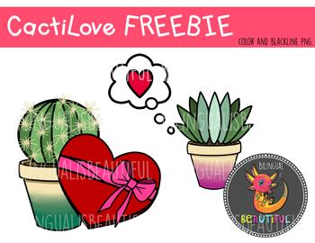 Cactus Love Valentine's Clip Art
