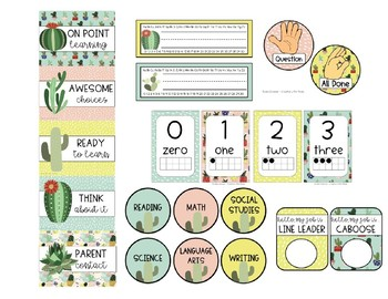 Cactus Lovers Decor Pack