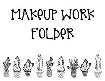 Cactus Make-Up Folder Sign