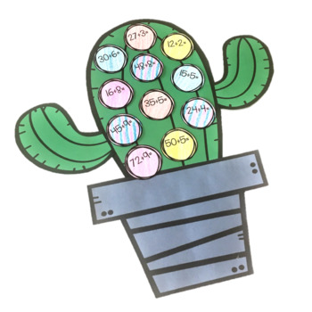 Cactus Math Craft (Differentiated)