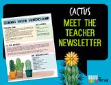 Cactus Meet The Teacher Back To School Parent Letter Succulents Printable