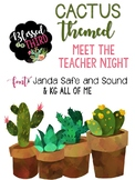 Meet The Teacher Cactus Theme