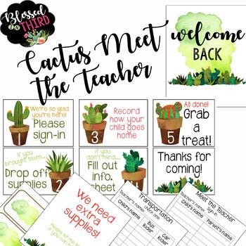Meet The Teacher Cactus Theme