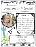 Cactus Meet the Teacher Form!-Editable