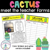 Cactus Meet the Teacher Letter, Transportation Form, & Sign in Sheet- EDITABLE