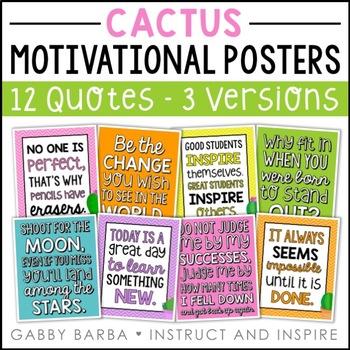 Cactus Motivational Posters