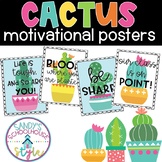 Cactus Classroom Theme Motivational Posters