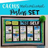Cactus Motivational Posters Set