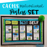 Cactus Classroom Decor l Motivational Posters Set