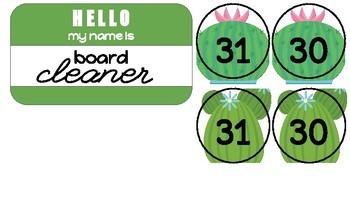 Cactus Name Badge Job Tags