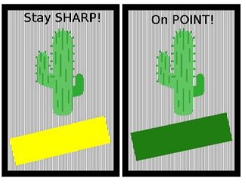 Cactus Name Tags/Locker Tags