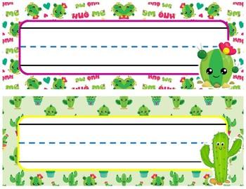 Cactus Nameplates 4 Styles