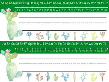 Cactus Nametags ~ EDITABLE