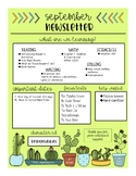 Cactus Newsletter EDITABLE! (monthly newsletter for parents)