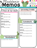 Cactus Newsletter Template